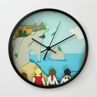 narnia Wall Clocks featuring Ruins in Narnia? by Deer Heart Sly Fox