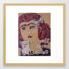 Cats Loved Blanche (Blanche No. 3) Framed Art Print