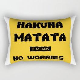 optimism design :Hakuna Matata it means no worries Rectangular Pillow