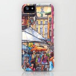 Innsbruck ink & watercolor illustration iPhone Case