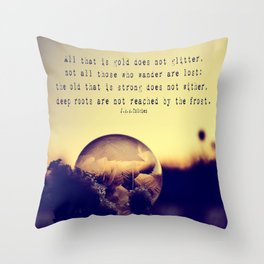 Bubble at Sunrise Throw Pillow