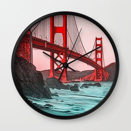 Golden Gate Bridge - Panorama Wall Clock