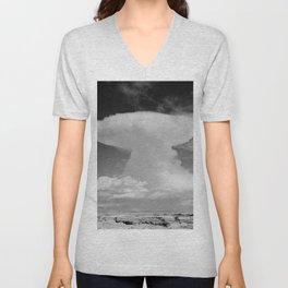 Anvil-shaped cumulonimbus cloud. Pike's Peak, Colorado Unisex V-Neck