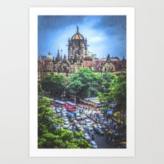 Chhatrapati Shivaji Terminus 2 Art Print