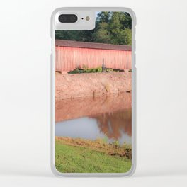 Early Morning at Watson Mill Bridge Clear iPhone Case