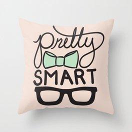 Pretty Smart Mint Throw Pillow
