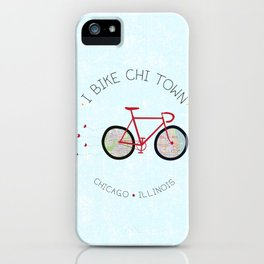 Chicago, Illinois by I Bike iPhone Case