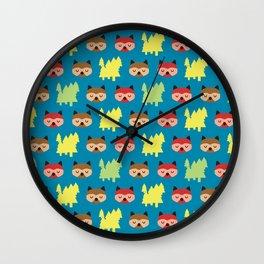 The Bandit Raccoons II Wall Clock