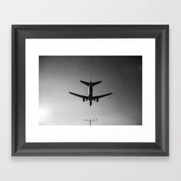 LAX Plane Landing Framed Art Print