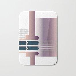 Minimalist Gradient Geometric Interlocking Abstract Structures #buyart #homedecor Bath Mat