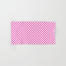 Small Checker Print - Pink and White Hand & Bath Towel