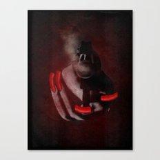 Grunge Bang Bang Red Nails  Canvas Print