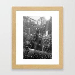 III. The Empress Tarot Card Illustration Framed Art Print