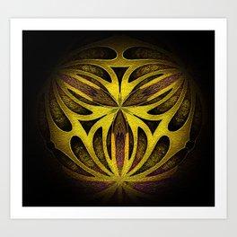 Yellow Gold Gateway Orb Art Print