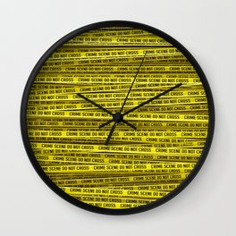 Crime scene / 3D render of endless crime scene tape Wall Clock