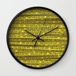 Crime scene / 3D render of endless crime scene tape Wall Clock
