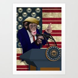 PRESIDENT of THE APES Art Print