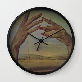 PORTRAIT OF A PASSIONATE WOMAN  (The Hands)  by Salvador Dali Wall Clock