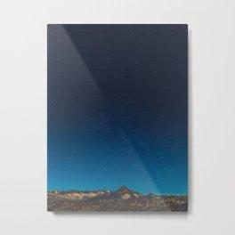 Magical Mountains Blue Sky Night Sky Stars Beautiful Haunting Landscape Metal Print