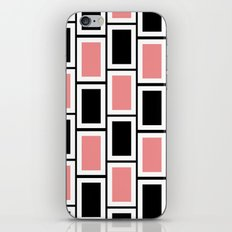 Black and Pink Bricks iPhone Skin