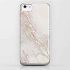 Marble Rose Gold Blush Pink Metallic by Nature Magick iPhone 5c Slim Case