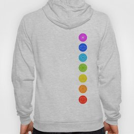 Chakra symbols with respective colors- Spiritual gifts Hoody