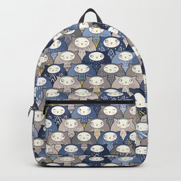 Find a cat in a parliament of owls (Art Deco Kawaii) Backpack
