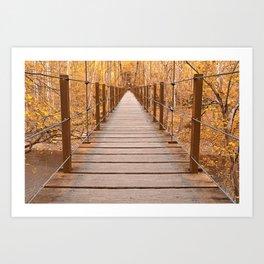 Golden Grove Suspension Bridge Art Print