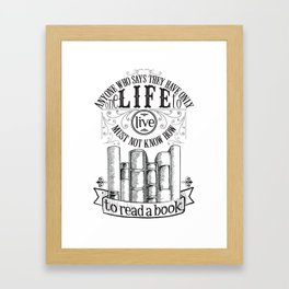 How To Read A Book Framed Art Print