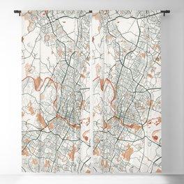 Austin City Map of Texas, USA - Bohemian Blackout Curtain