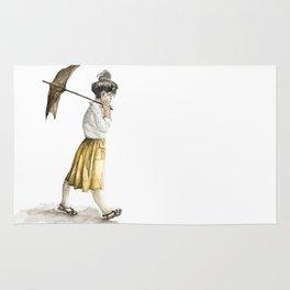 Girl with an umbrella Rug