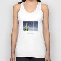 parks Tank Tops featuring National Parks: Saguaro by Roadtrippers