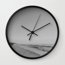 HALF MOON BAY III (B+W) Wall Clock