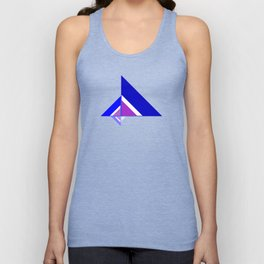 Blue and Pink Triangles Unisex Tank Top