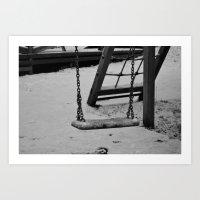 Frozen swing  Art Print