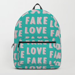 Fake Love - Typography Backpack