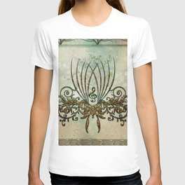 Clef with decorative floral elements T-shirt