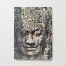 Bayon Temple Angkor Siem Reap Cambodia Metal Print