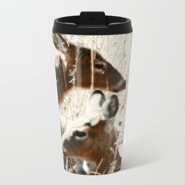 Doe And Her Young Travel Mug