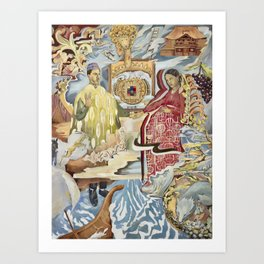 The 12 Tribes Art Print