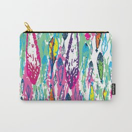 Rainbow Leaves Abstract Pattern Carry-All Pouch