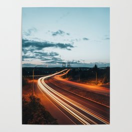 Highway Lights Poster