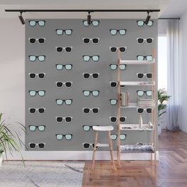 All Them Glasses - Grey Wall Mural