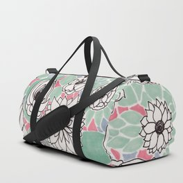 Retro Floral Duffle Bag