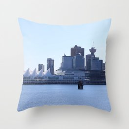 Downtown Vancouver Canada Throw Pillow