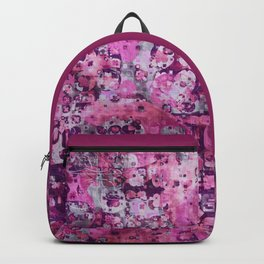 Messy Pink Foral Backpack