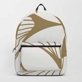 Diamond Series Floral Cross Gold on White Backpack