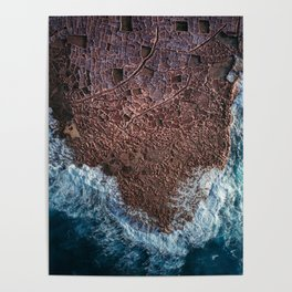 Salt Ponds in Gozo island Poster