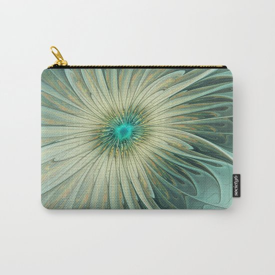 Emotions of a Flower, Abstract Fractal Art Carry-All Pouch