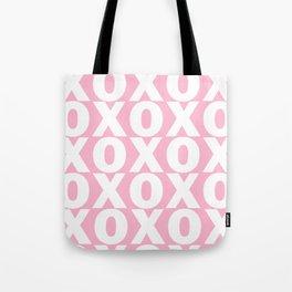 XOXO - Light Pink Pattern Tote Bag